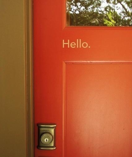 CAN YOU FIND THE ORANGE DOOR?